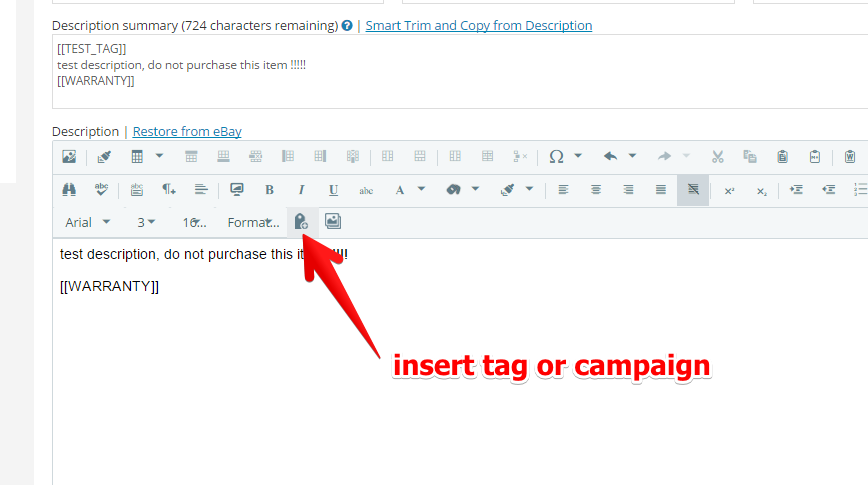 Adding content to template tags