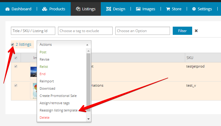 Product Listing Template from screenshots.justapps.eu